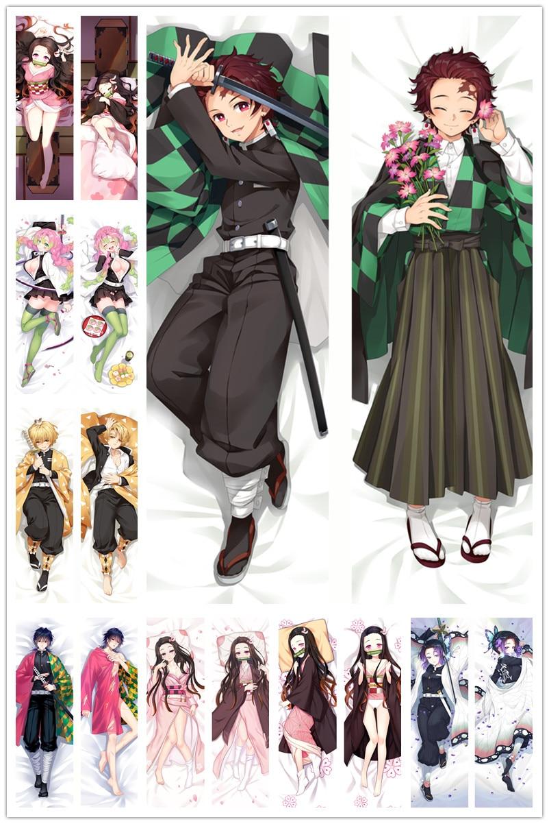 Dakimakura Body Demon Slayer : Kimetsu No Yaiba150x50cm 100x35cm Anime Manga  Pillow Case Cover