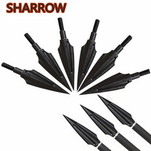 4/6/12pcs Black High Carbon Steel 140 grains Arrow Heads Broadheads Tips Points Arrowheads For Bow Shooting Accessories