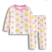 Пижамные костюмы для маленьких девочек; одежда для сна для новорожденных; мягкая хлопковая одежда для сна с героями мультфильмов; пижамы для малышей; комплекты одежды с длинными рукавами