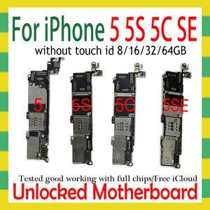 Image 1 - Sbloccato originale per iphone 5 5C 5s 5SE SE scheda madre, smontare per iphone 5 5g scheda logica con sistema IOS