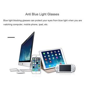Image 2 - אור משקל מתכת מסגרת אנטי כחול אור מחשב משקפיים גברים נשים אופנה חסימת lunette לומייר bleue