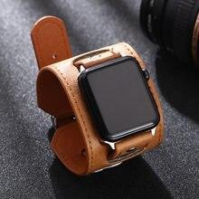 Braun lederband für Apple Uhr 4 3 2 1 38mm 40mm, lederband für iwatch 5 44mm 42mm