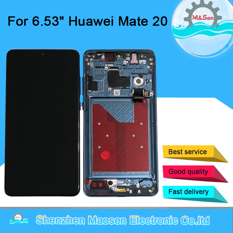 "Original Tested M&Sen For 6.53"" Huawei Mate 20 LCD Screen Display+Touch Panel Digitizer Frame For Huawei Mate 20 Assembly Lcd-in Mobile Phone LCD Screens from Cellphones & Telecommunications"