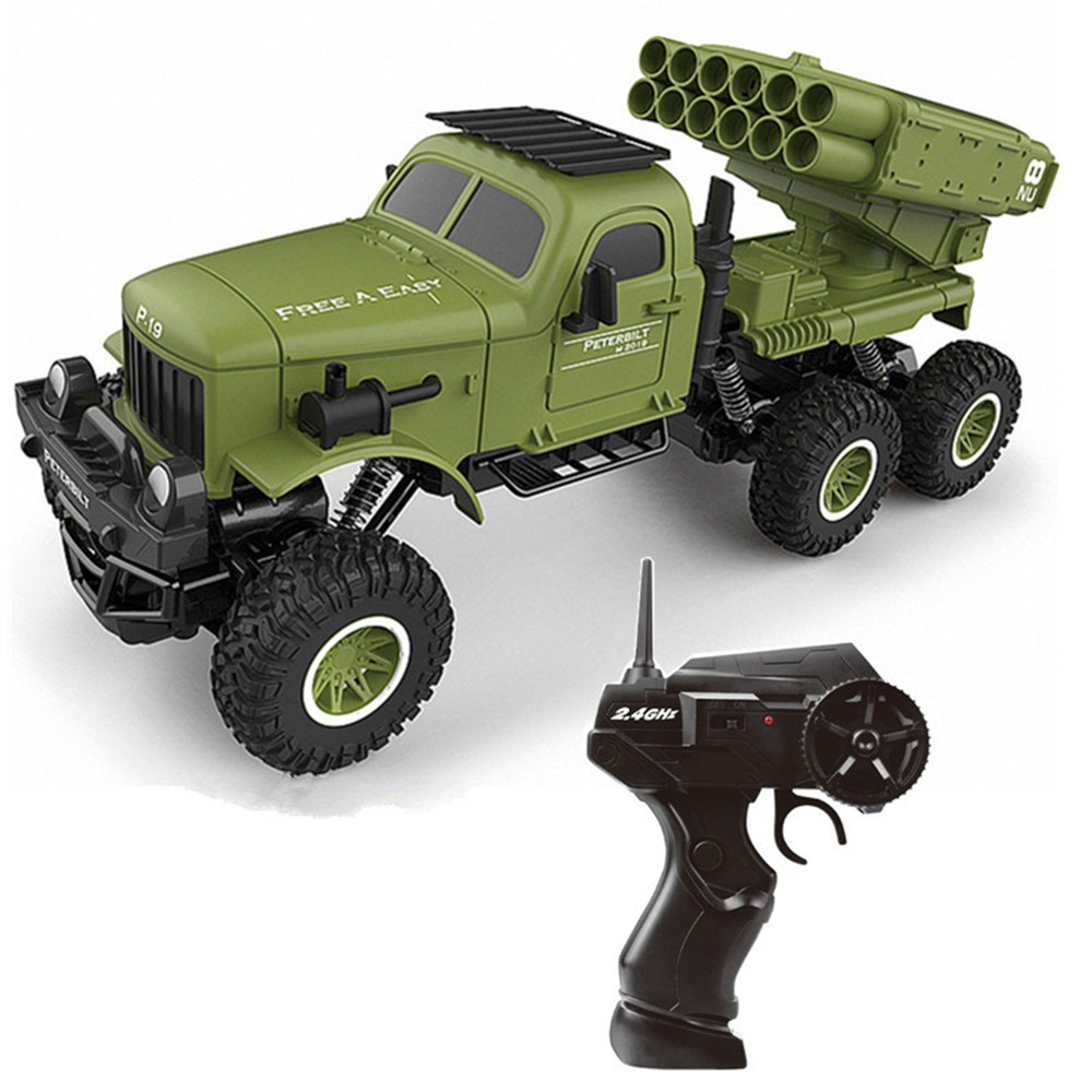 1:16 Remote Control Military Engineering Vehicle Six-wheel Drive Remote Control Climbing Car Sand Off-road Obstacle Remote Con