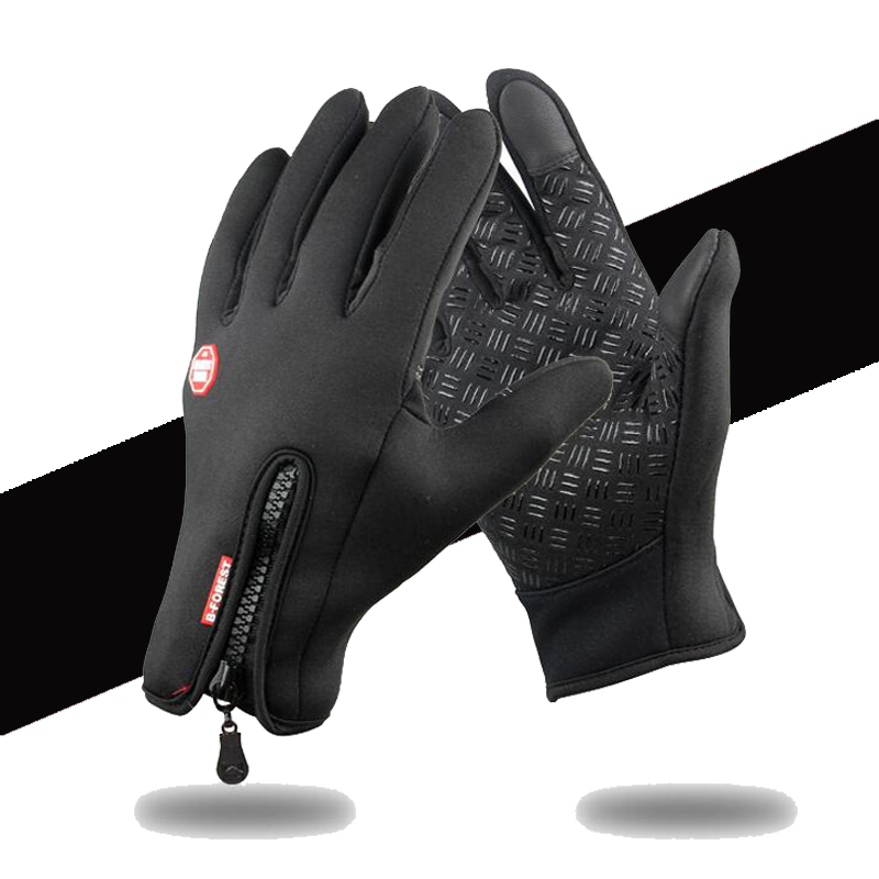 Waterproof Winter Warm Gloves Men Ski Gloves Snowboard Gloves Motorcycle Riding Winter Touch Screen Snow Windstopper Snow Gloves