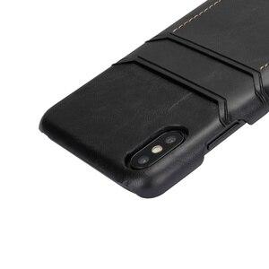 Image 3 - Ретро Натуральная кожа задняя крышка чехол для iPhone XR XS 11Pro Max 7 8 Plus двойной слот для карт чехол для galaxy S8 S9 Note 9 10, MYL 1V3