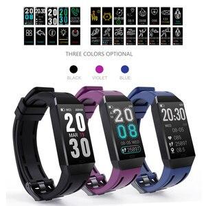 Image 1 - Металлический Чехол, смарт браслет, фитнес трекер, часы, мониторинг сердечного ритма, артериального давления, шагомер, умный спортивный браслет