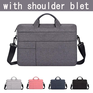 "Image 5 - Waterdicht Vrouwen Mannen Laptop Tas 13.3 15.4 ""Case voor Macbook Air 13 15 Tas 11 12 14 Macbook Pro 15 touch bar Mouw met Riem"