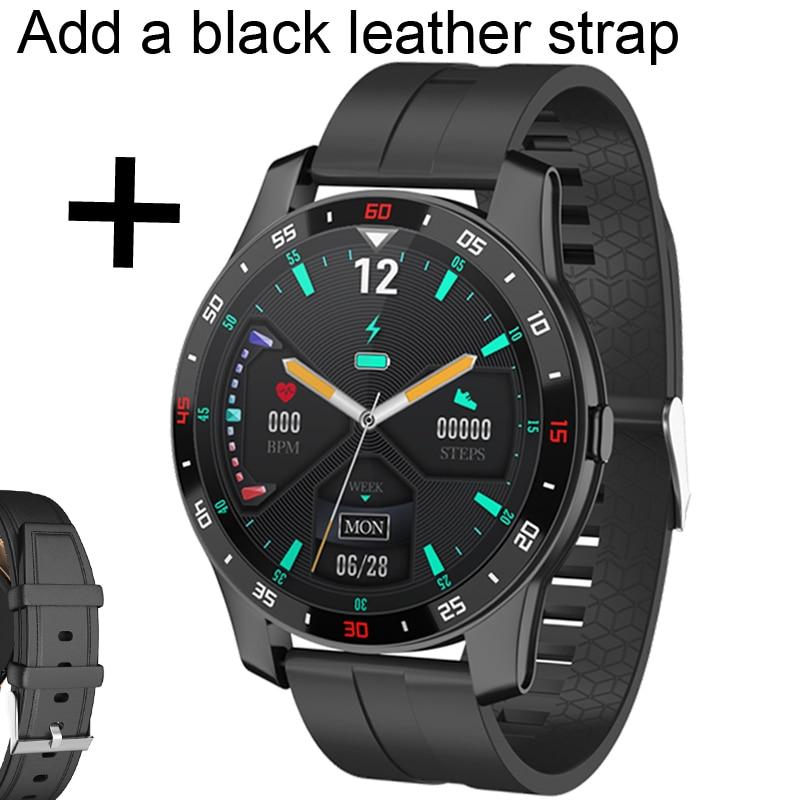 Add black leather