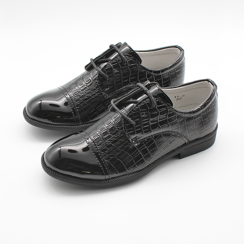 Boys Shoes Kids School Youth Infants Lace Up Patent Slip On Formal Wedding New