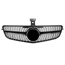 Car ABS Front Hood Mesh Bumper Coupe Grille Bright Black Stars Fit for Benz C-Class W204 2007 2008 2009 2010 2011 2013 2014(China)