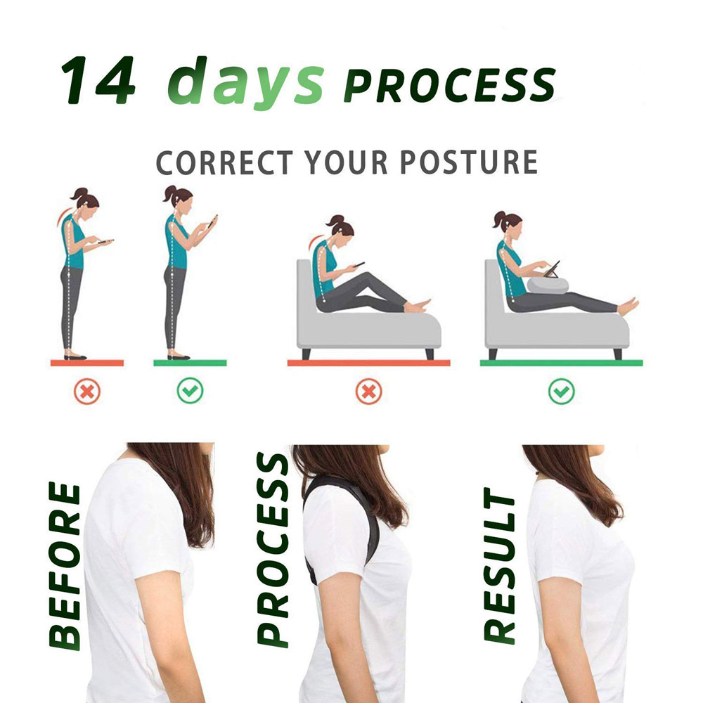 Adjustable Back Posture Corrector Clavicle Spine Back Shoulder Lumbar Brace Support Belt Posture Correction Prevents Slouching 4