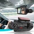 Автомобильный видеорегистратор, Автомобильный регистратор с двумя объективами 1080P, видеорегистратор вождения, Видимый ночью, автомобильна...