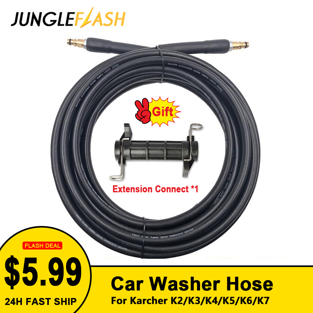 JUNGLEFLASH High Pressure Washer Hose Pipe Cord Car Washer Water Cleaning Extension Hose Water Hose For Karcher Pressure Cleaner