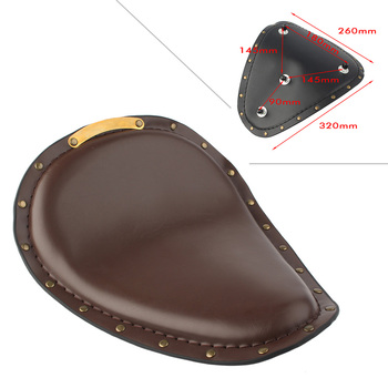 Motorcycle Front Driver Solo Seat Cushion For Harley Davidson Chopper Curious Bobber Custom Quality Synthetic Leather