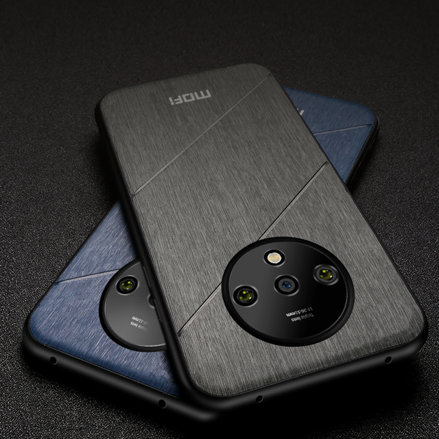 MOFi OnePlus 7T Luxury Shockproof PU Leather Hard Back Case Cover