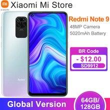 Xiaomi – Smartphone, Redmi Note 9, RAM 3 go, ROM 64 go, 48mp, téléphone intelligent, terminal mobile, quatre caméras arrière, processeur MTK Helio G85, Octa Core, batterie 5020mAh, Version internationale