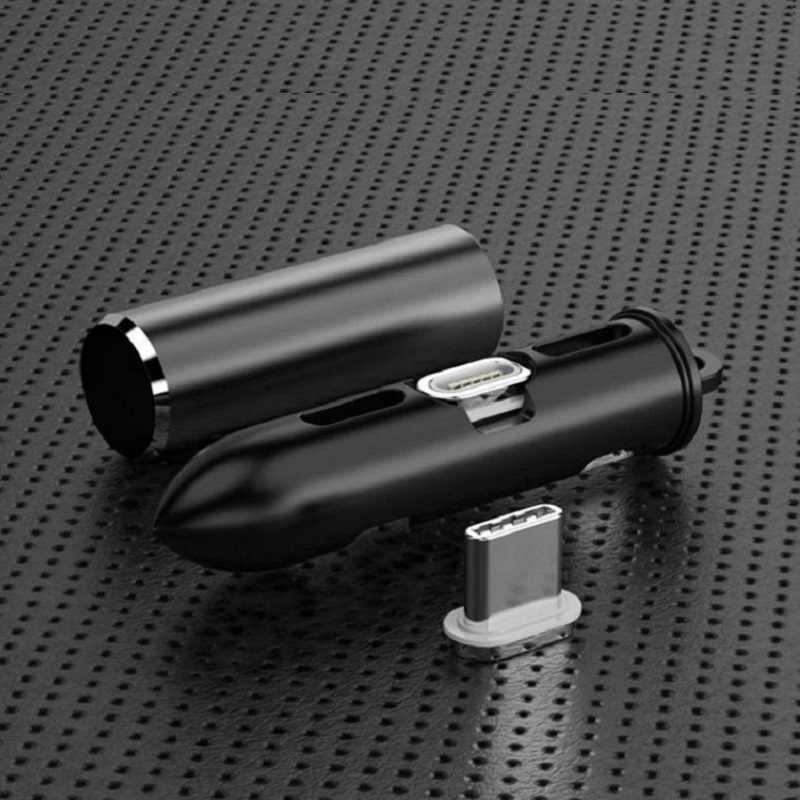كابل مغناطيسي التوصيل صندوق نوع C المصغّر usb C ل 8 دبوس محول الشحن السريع الهاتف مايكرو المغناطيس شاحن الحبل المقابس