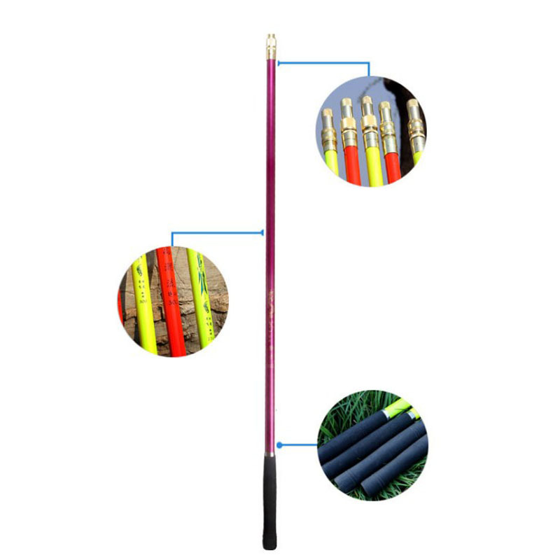 Athletic Carbon Chao Wang Gan Fishing Rod Thick Light Superhard Positioning Telescopic Fishing Net Rod