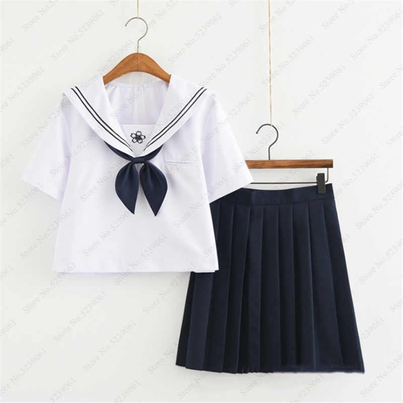 Mädchen Kurzen Rock Japanischen Stil JK Schuluniform Japan College Bühne Dance Sailor Kostüm Plissee Anime Cosplay T-shirt Kleider