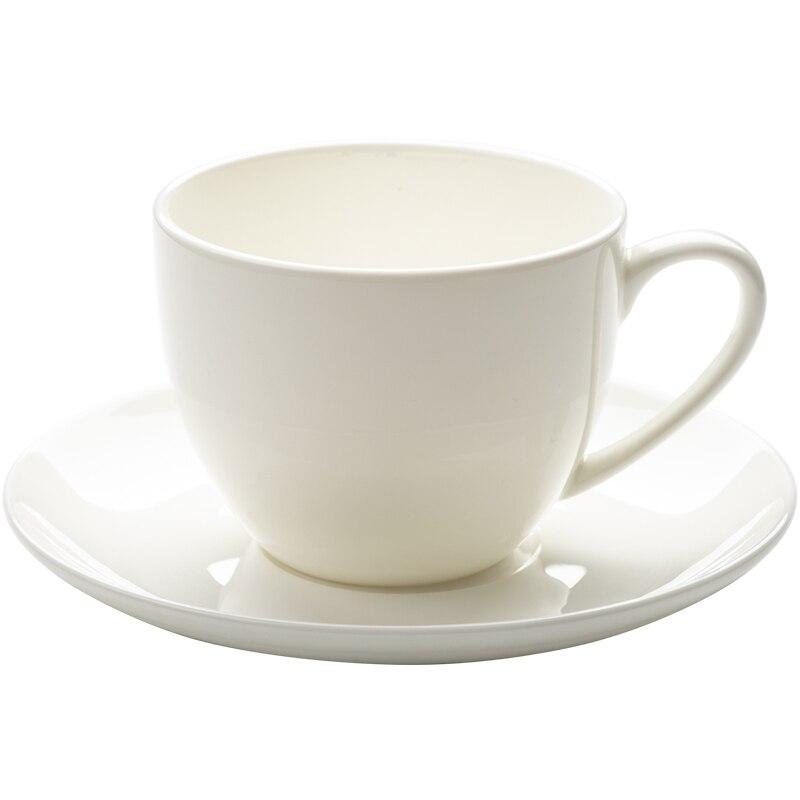 Роскошный фарфоровый Европейский набор кофейных чашек, белый маленький костяной фарфор, чашка для чая с блюдцем Xicara De Cafe, домашняя посуда дл...