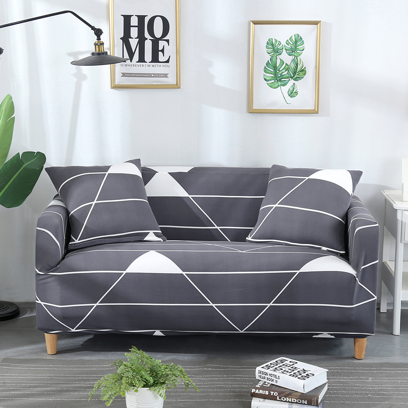 Wrinkle Free Couch Cover with Elastic and Straps for Sofa in Living Room Made of High Quality Spandex Material 15