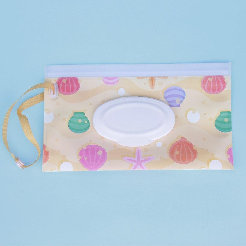 Quaslover Экологичная коробка для детских салфеток, коробка для влажных салфеток, чистящие салфетки, сумка для переноски, чехол-раскладушка с ремнем - Цвет: K