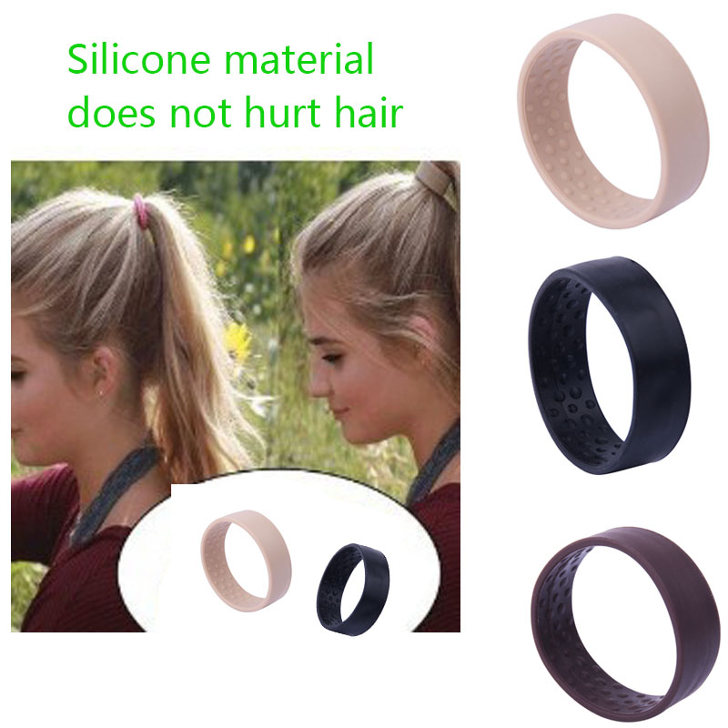 1pcs hair Bands For Women Silicone Foldable Stationarity Hair Tie Accessories Elastic Ponytail Holder Pure color Multifunction