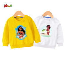 Kids sweatshirts girls moana costume t shirt baby Pullover toddler cute korean kids sweater autumn 2019  clothes girl