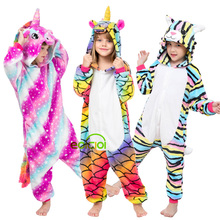 Kids Pajamas Sleepwear Unicorn Kigurumi Christmas Girls Winter Children Boys Panda Set
