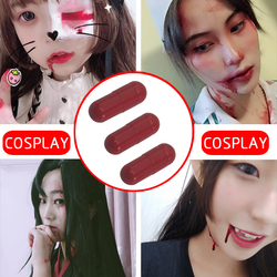 3Pcs Fake Blood Capsule Funny Horror Trick Treat Prank Props Halloween Party Skills Masquerade Party Role Playing Vampire Props