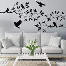 Tree Birds Removable Wall Stickers Decals Sofa Art Vinyl Living Room Mural Decor