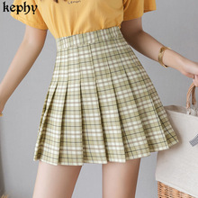 Women's Skirt Autumn Preppy-Style Winter High-Waisted And