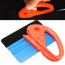 Car Vinyl Film Wrapping Tools Blue Scraper Squeegee With Felt Edge Size Car Styling Stickers Accessories(China)