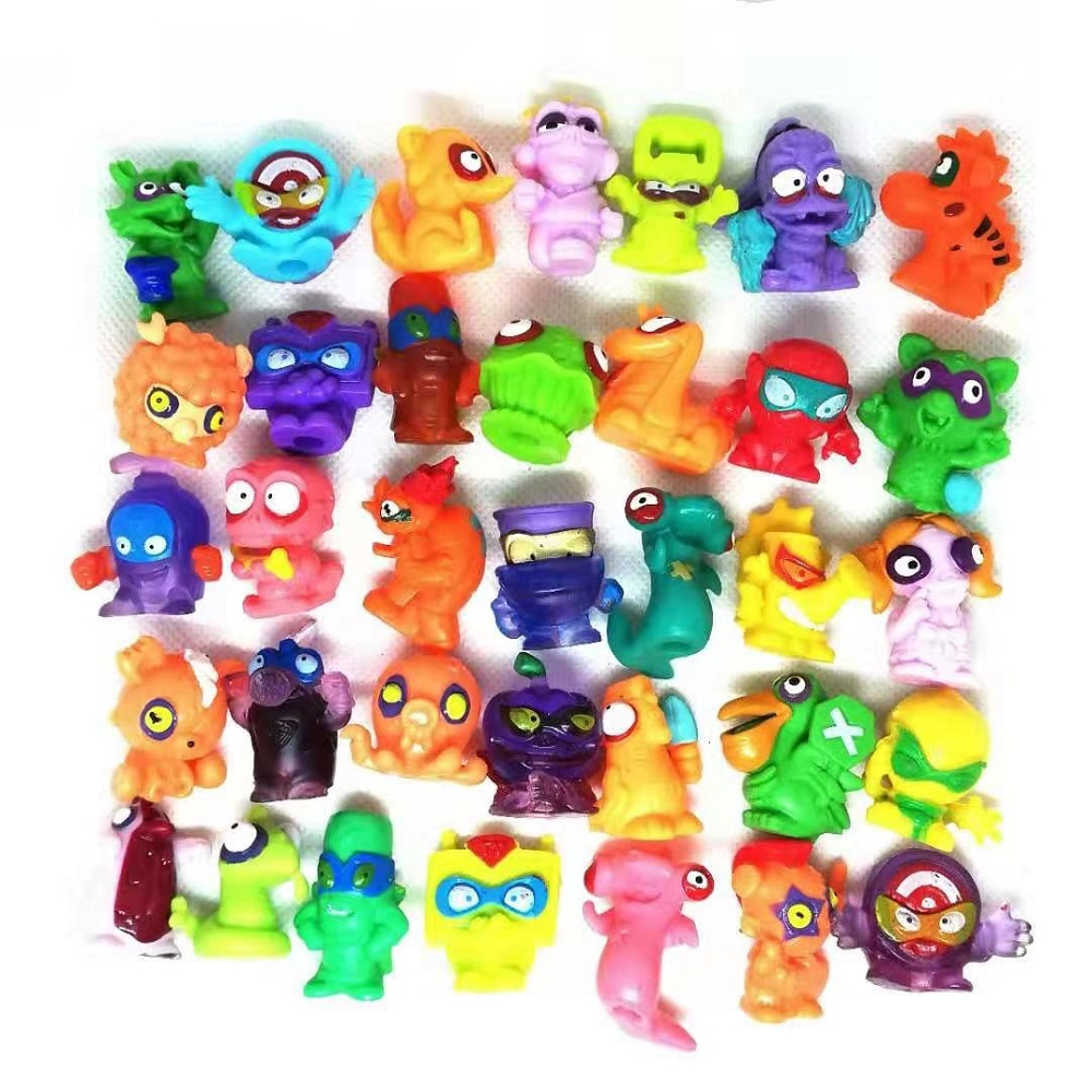 10pcs/bag Superzings Zomlings Action Figures Dolls 3CM Super Zings Garbage Collection Toys Model For Children Playing Gift