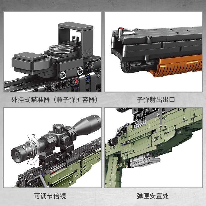 Fit Technische Serie MOC Pistolen shotgun Können Feuer Kugeln Set AWM Winchester Militär Modell Bausteine Spielzeug Für Jungen DIY geschenke