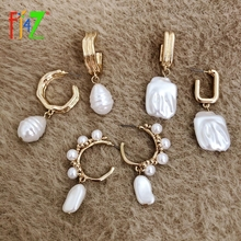 Irregular-Pearl-Earrings Simulated Gifts F.j4z-Trend Baroque Women for Hot