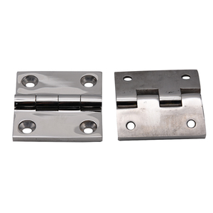 Image 5 - 50*50mm Stainless Steel 316 High Mirror Marine Square Hinge Boat Door Hinge Top Mirror Polished Boat/Yacht Square Hinge 5PCS
