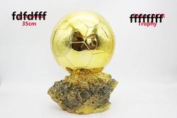 Taille d'origine 35cm taille énorme ballon DoR trophée ballon d'or Trophée Final Tireur Joueurs Dorée Électrolytique boule coupe