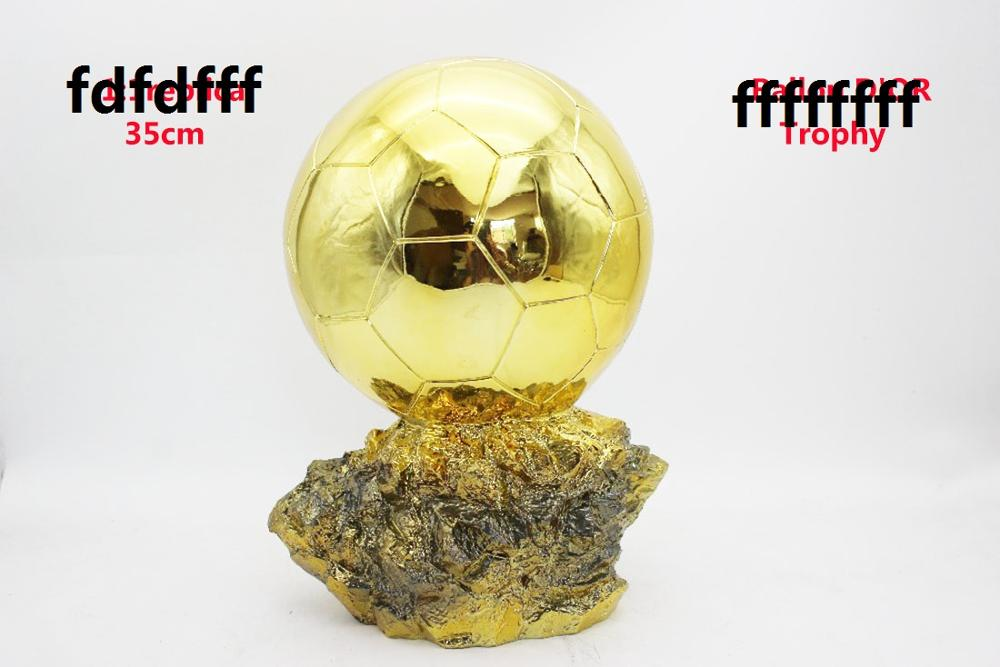 Original  Size  35cm Huge Size Ballon DoR Trophy  Golden Ball  Trophy Final Shooter Players Electroplated Golden Ball Cup  Award