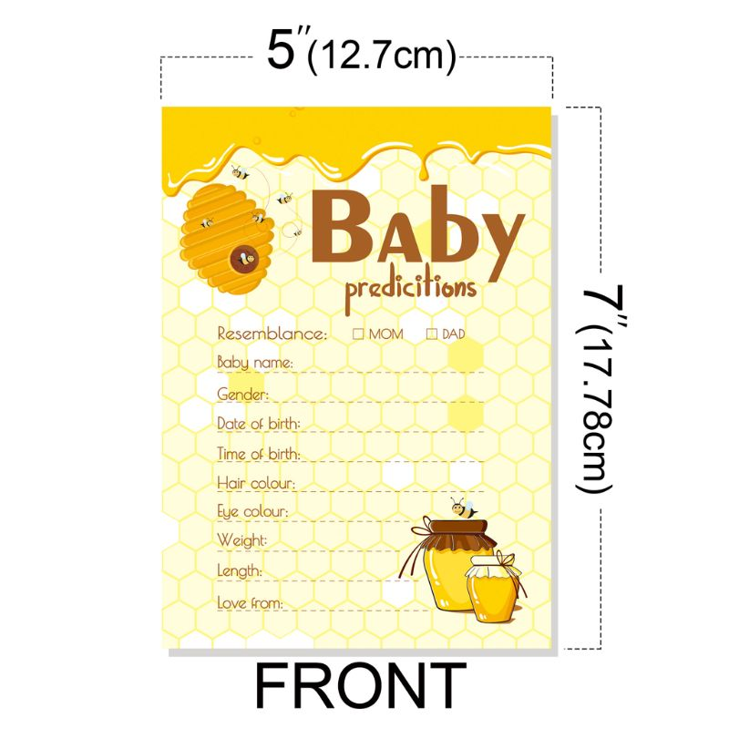10 Pack Advice And Prediction Cards For Baby Shower Game Parent Message Advice X5XE