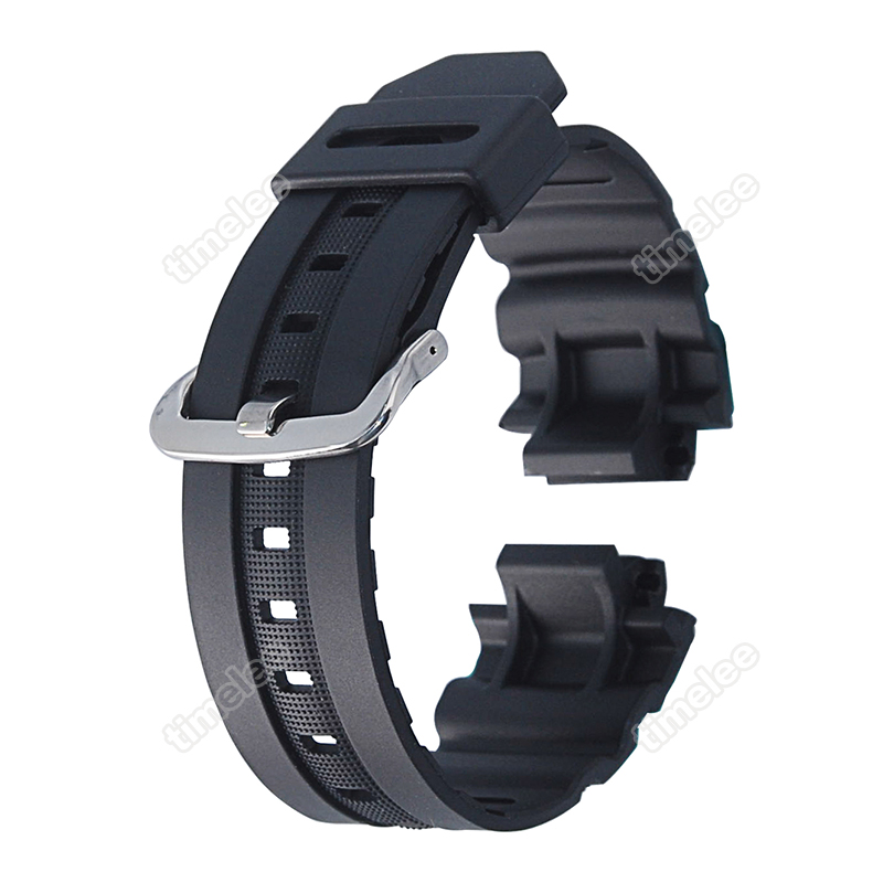 New Matte Black Silicone Rubber Band Waterproof Strap Replacement For AW-591/AW-590/AWG-100/G-7700/G-7710