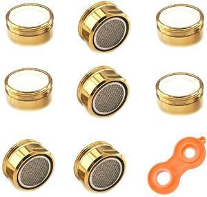8 шт. 24 мм Золотой аэратор для экономии воды Медный аэратор для ванной комнаты мужской аэратор для кухонного крана аэратор для крана-смесите...