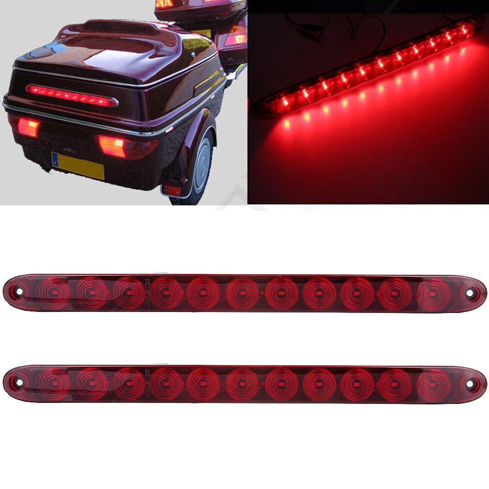 11LED Brake Tail Light Stop Lamp High Mount Red 12V For Truck Trailer Mini Vans