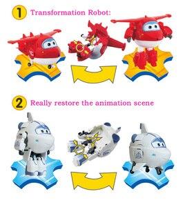 Image 5 - Duża 15cm figurka z ABS z postacią z filmu Samoloty, super skrzydła, deformacja, transformacja, robot, zabawka dla chłopców, na prezent