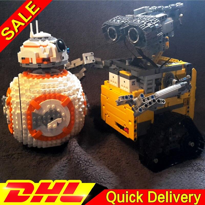 LP 16003 idée Robot E mur leleings 05128 le B Double B 8 Robot ensemble blocs de construction briques lepinings jouets Clone 21303 75187