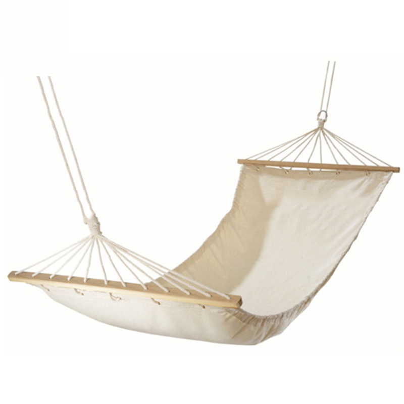 Solid White Canvas Hammock 100% Cotton Canvas Outdoor Hammock With Stick Canvas High Quality Single Person Hammock