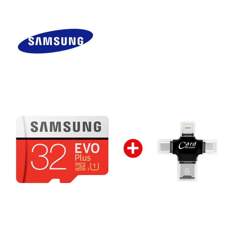 Carte Micro SD SAMSUNG haute vitesse EVO Plus 64 go class10 U3 4K carte mémoire Flash 128 go carte mémoire 256G mecard Micro sd kart