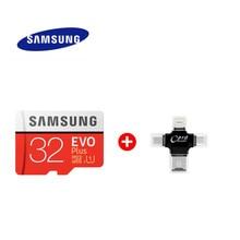 SAMSUNG-tarjeta Micro SD de alta velocidad EVO Plus, 64GB, Clase 10, U3, 4K, 128GB, Flash, 256G, kart