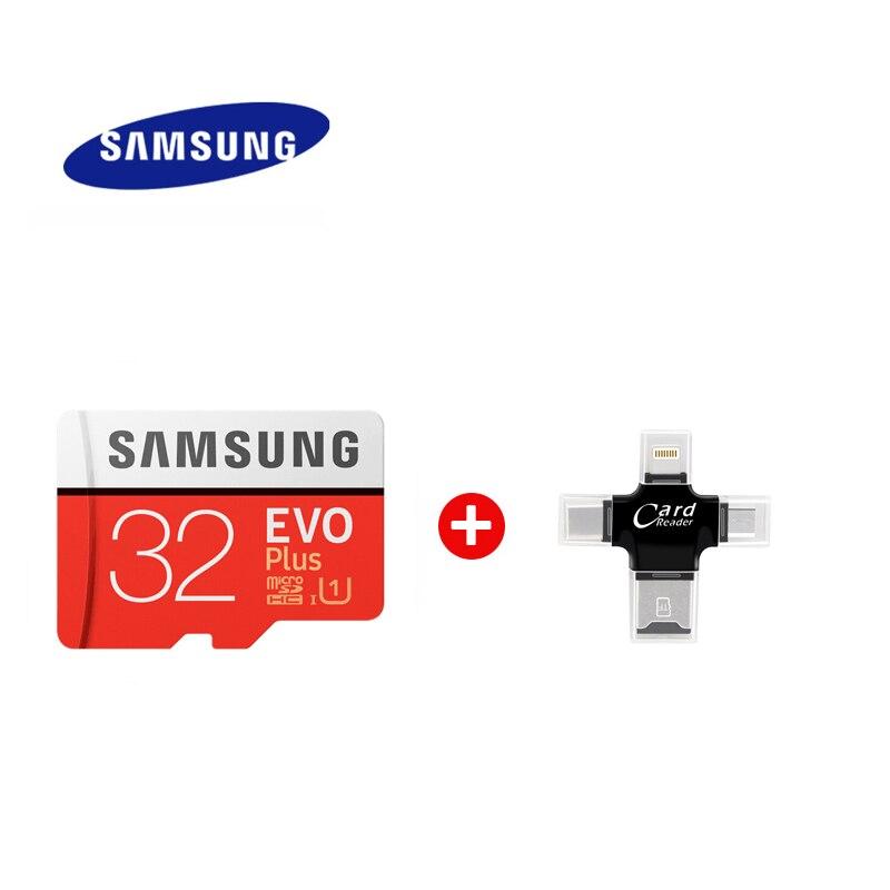 SAMSUNG-tarjeta Micro SD kart de alta velocidad EVO Plus 64GB class10 U3 4K, 128GB de memoria Flash, 256G